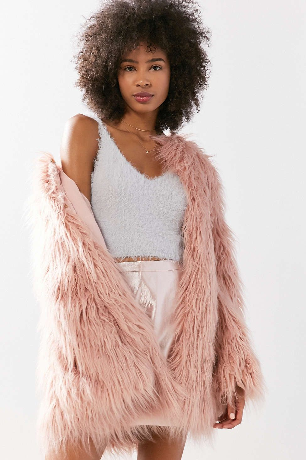 Kimchi Blue Fuzzy Cami New Arrivals Fashion Urban Outfitters Urban