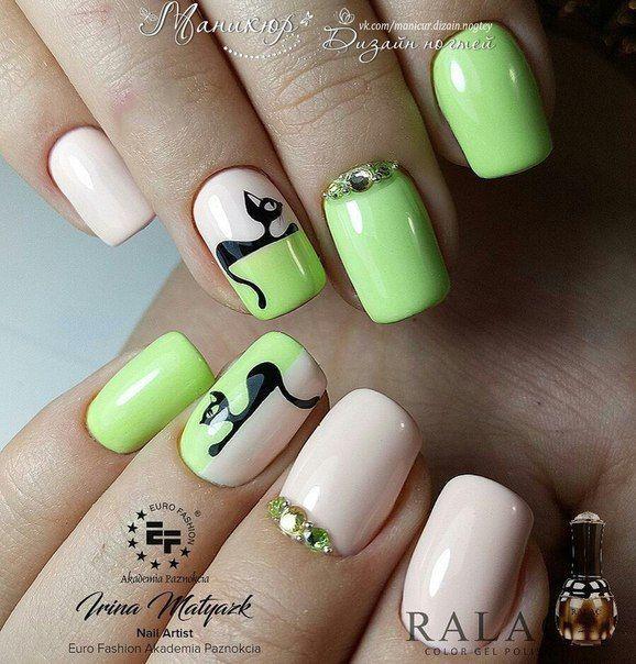 Маникюр | Дизайн ногтей | Nails | Pinterest | Diseños de uñas ...