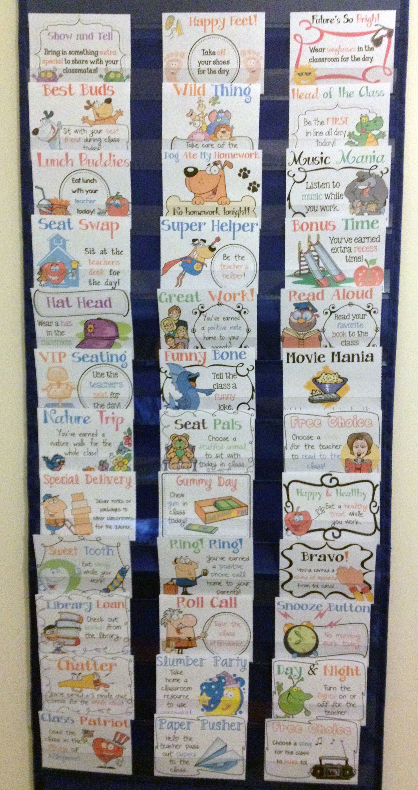 Reward Coupons Bonus Points Amp Punch Cards For Classroom Management