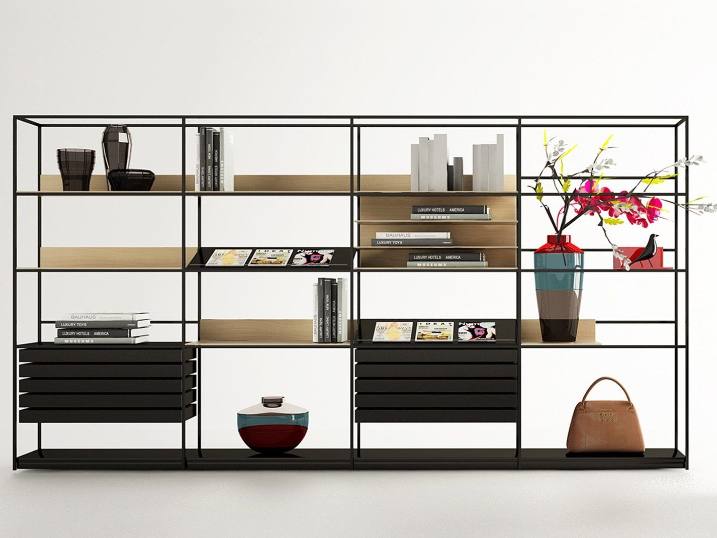 Libreria A Giorno In Metallo Deep By Enne Design Christophe Pillet  # Nea Muebles A Medida