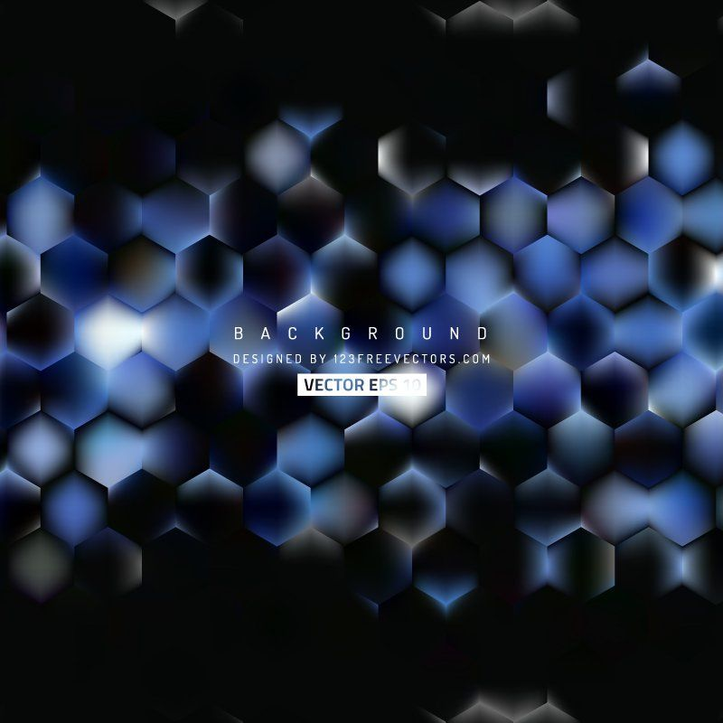 Blue Black Hexagon Background Template #freevectors