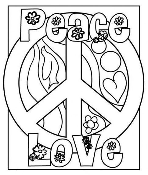 Peace Love Dia Da Paz Riscos Para Pintura Imagens Para Colorir