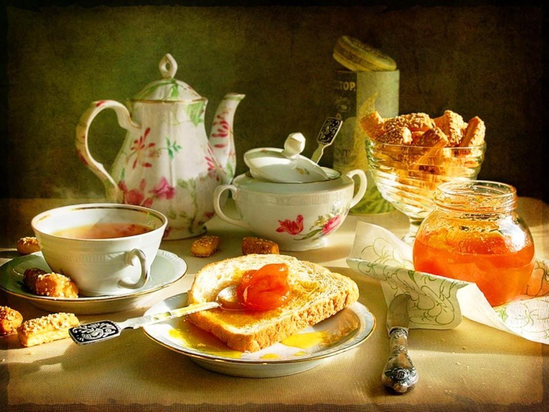 Открытка чайная, лучшая бабушка