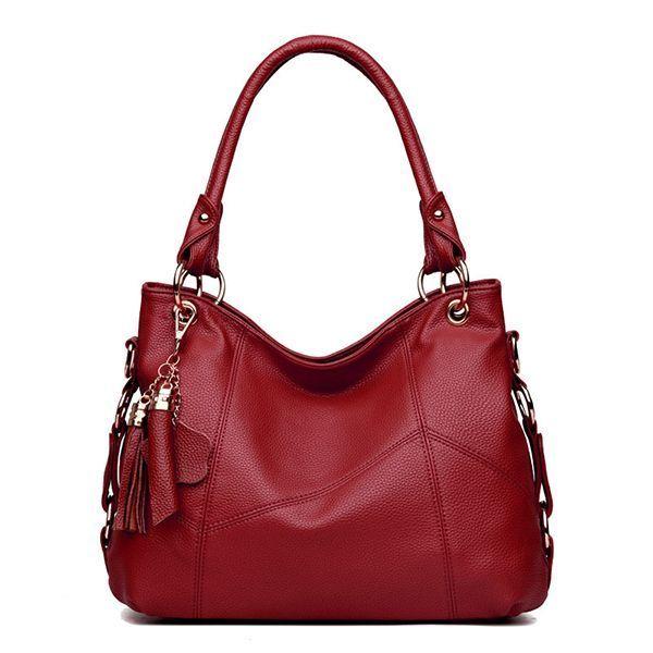 7 Star Handbags Women Pu Leather Elegant Functional Handbag Shoulder Bag Crossbody
