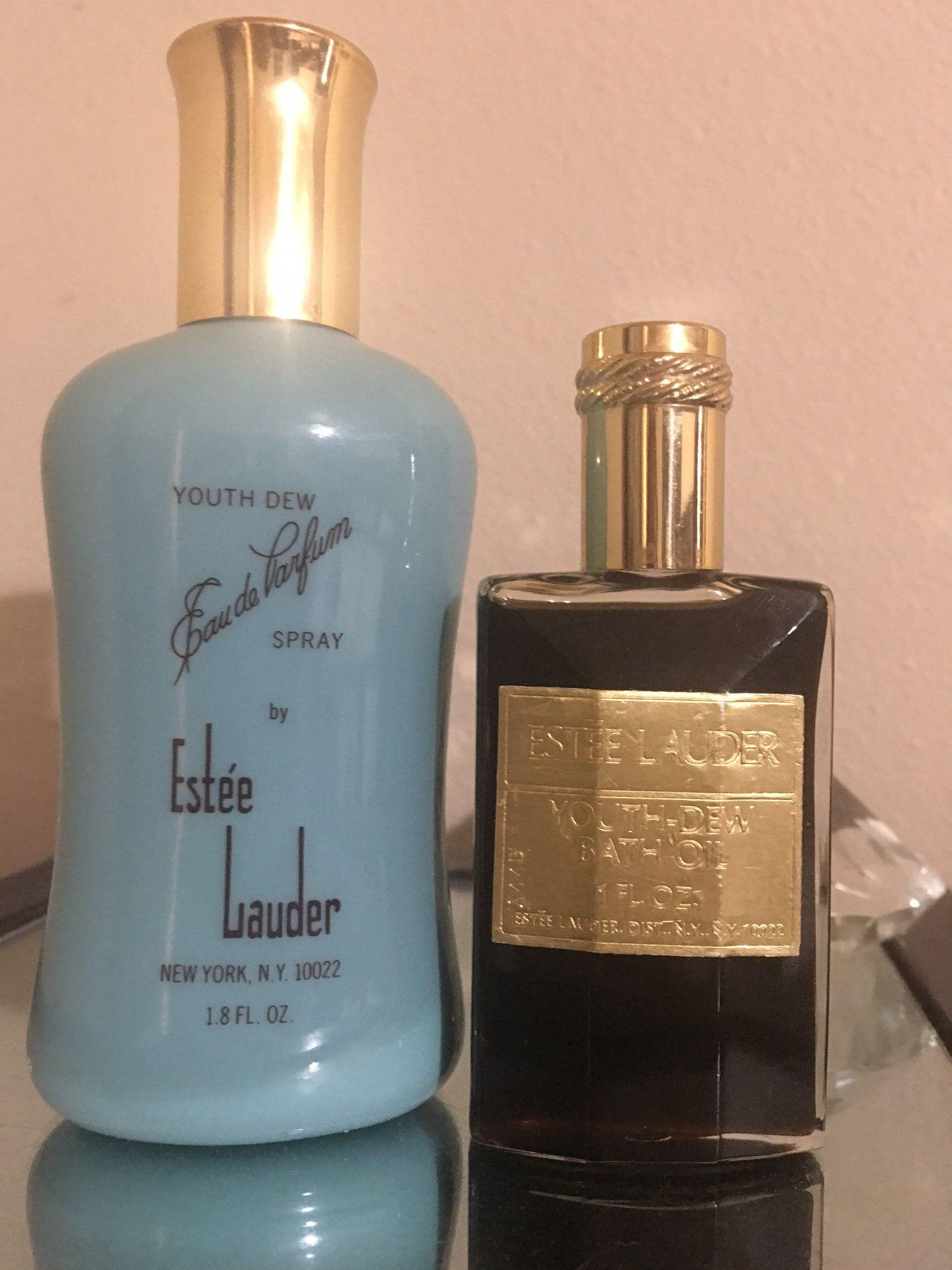 Vintage Estee Lauder Youth Dew Spray & Both Oil set Etsy