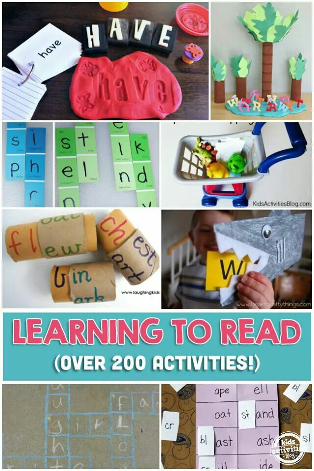 Learning to read activities