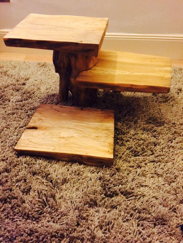 Ash cupcake stand made with off-cuts from fallen trees | My