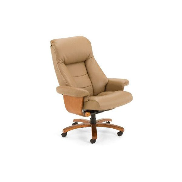 Mac Motion Chairs Mandal S Sand Top Grain Leather Swivel Office Chair ($899)