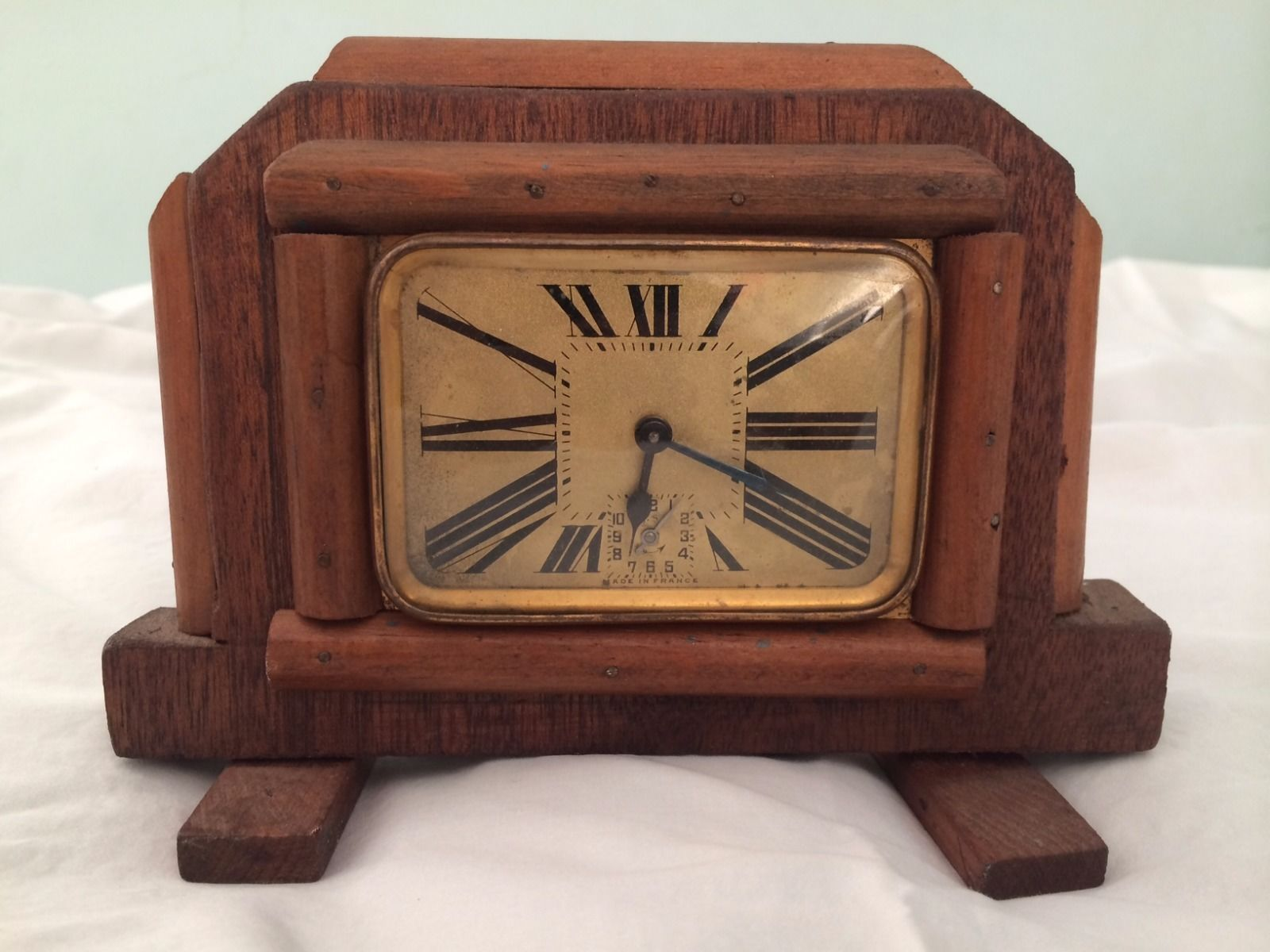 Arts and crafts mantle clock - Antique Deco French Mantle Clock An Interesting Face Small A Find Ebay