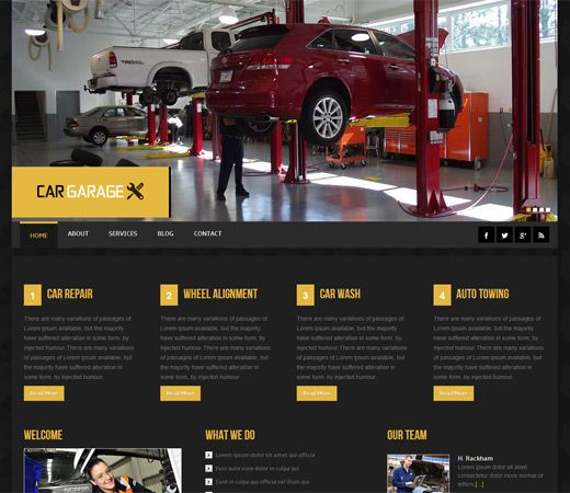 Car Garage Automobile Mobile Website Template By W3layouts