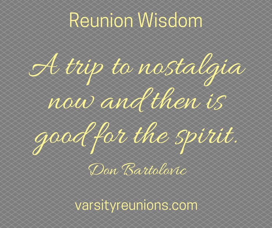 High School Reunion Wisdom – Part I