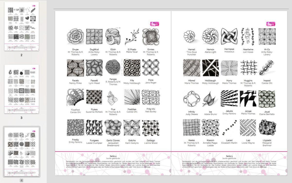 Ein Geschenk Fur Dich 180 Zentangle Muster Katalog Zentangle Muster Zentangle Muster