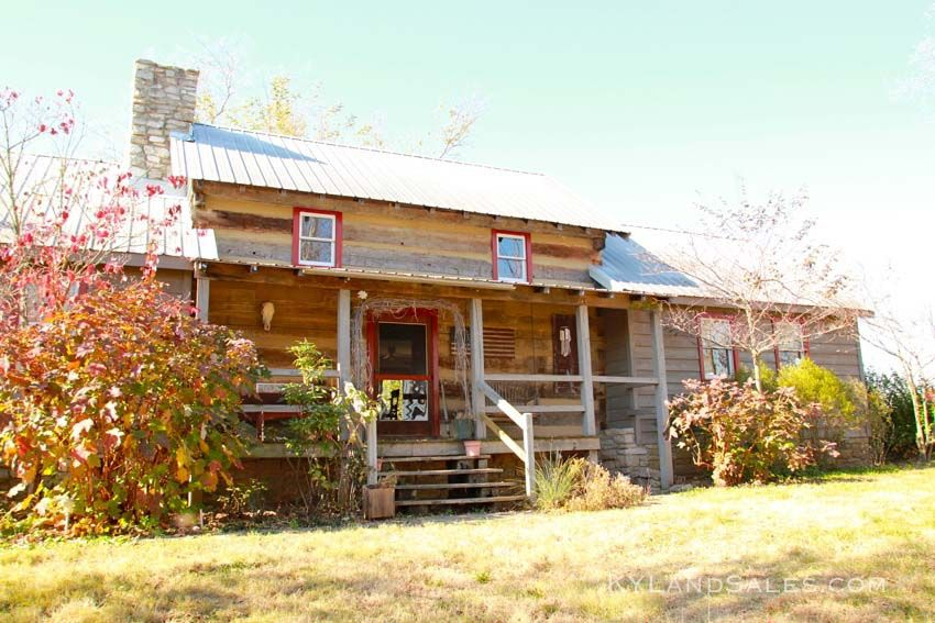 Kentucky Horse Farm Land And Historic Log Home For Sale In