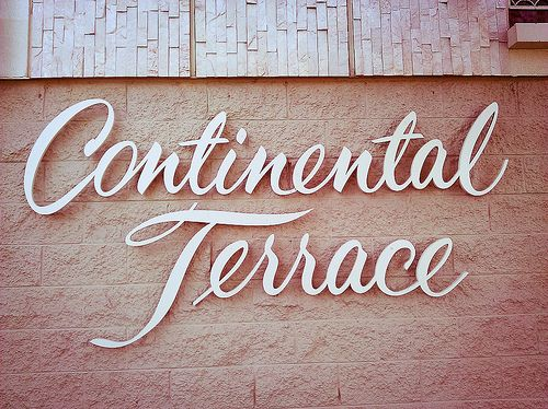Gorgeous script 3D sign lettering on an apartment building in Long ...