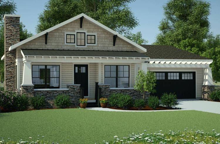 House Plan 7806 00013 Bungalow Plan 1 199 Square Feet 3 Bedrooms 2 Bathrooms Craftsman House Bungalow House Plans House Plans One Story