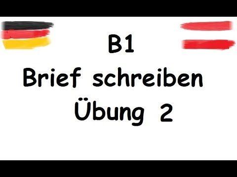 Brief Schreiben B1 Telc B1 نامه Youtube письма на немецком
