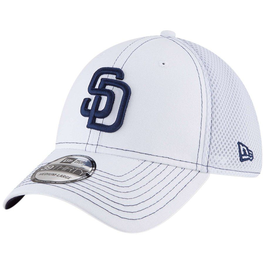 new concept dfd16 b988d Men s San Diego Padres New Era White Team Turn Neo 39THIRTY Flex Hat, Your  Price   25.99