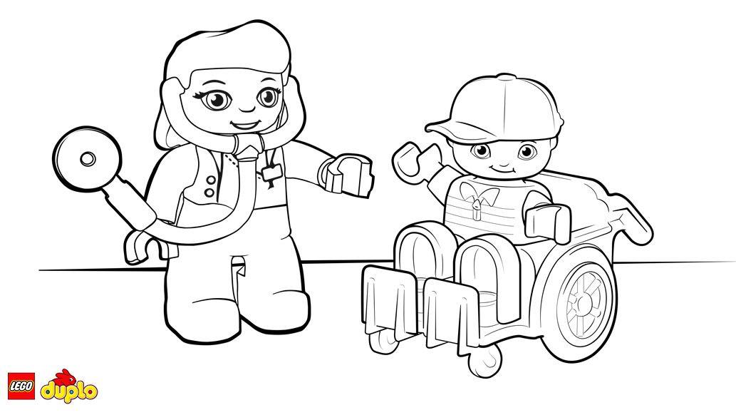 Kleurplaat LEGO® DUPLO® Dokter Lego duplo, Lego, Kleurplaten
