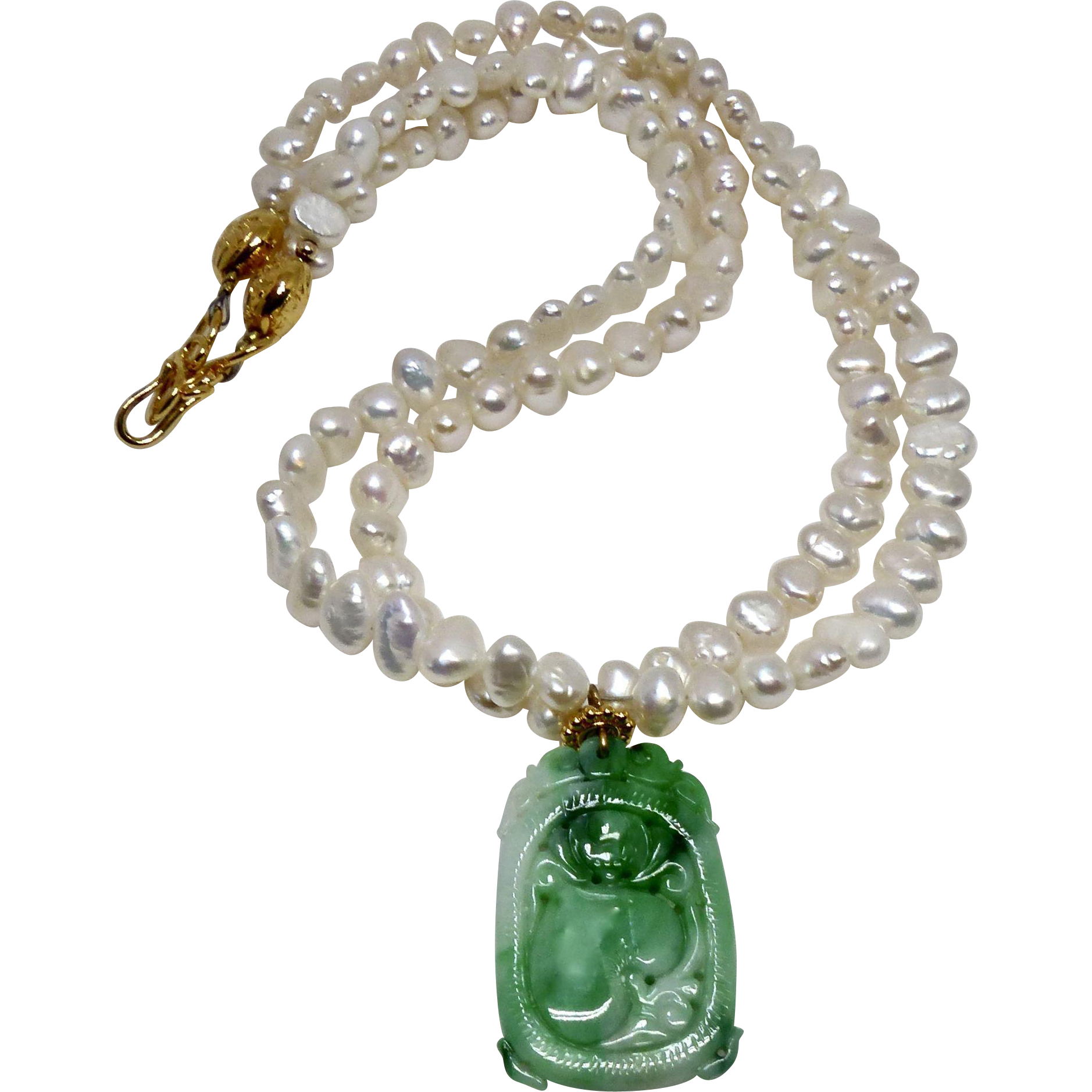 item jade gold parure c necklace demi pendant tiffany lot