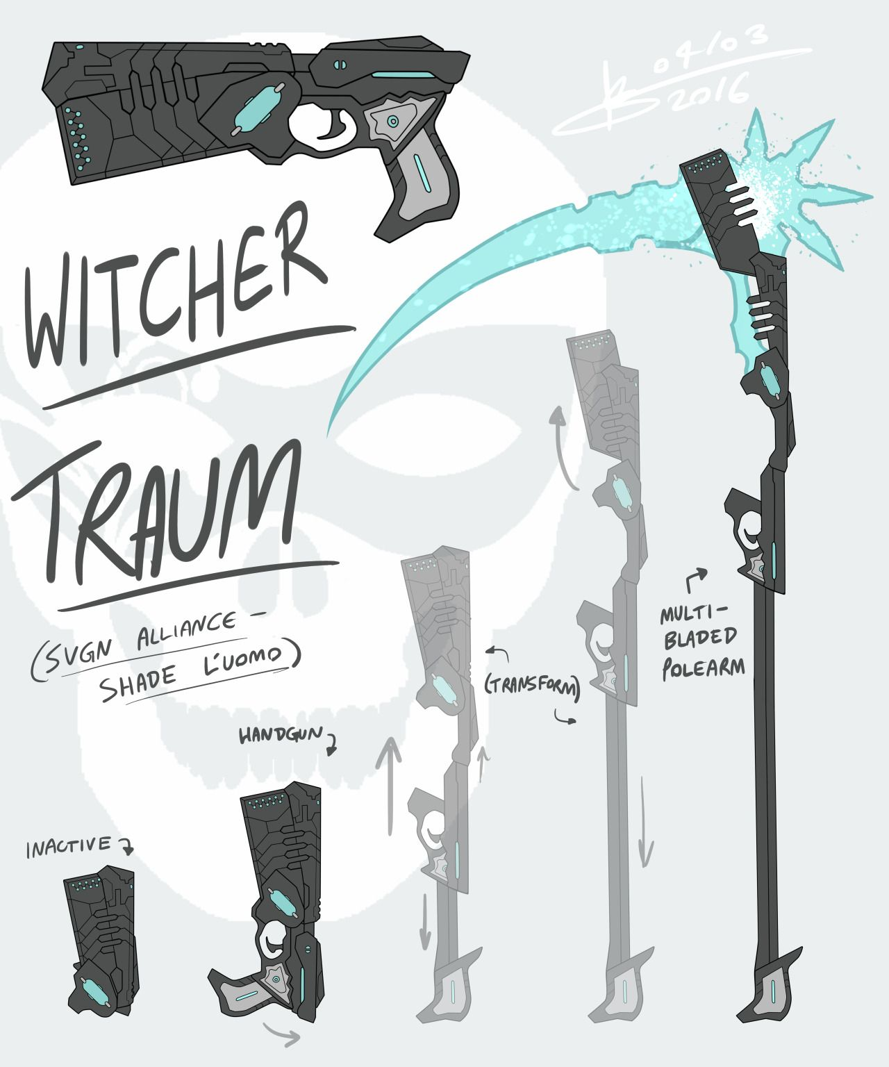 RWBY OC Weapon - Witcher TraumAfter a lot of deliberation I finally