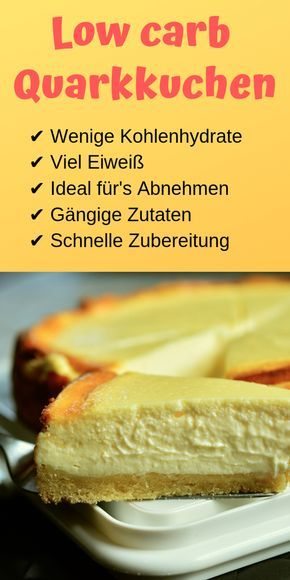 Low Carb Quarkkuchen - Low Carb Held