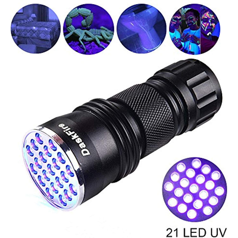 Black Light Uv Flashlight Daskfire 21 Led Blacklight Premium Handheld Ultraviolet Pet Dog And Cat Urine Stain Finder Bla Uv Flashlight Ultra Violet Flashlight