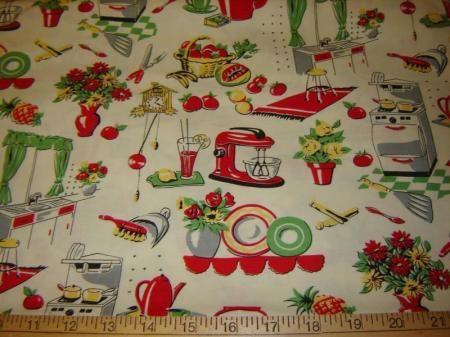 Fun Retro Kitchen Wallpaper