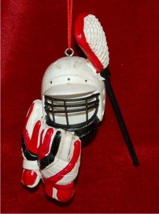 Lacrosse Kit Christmas Ornament  Lacrosse