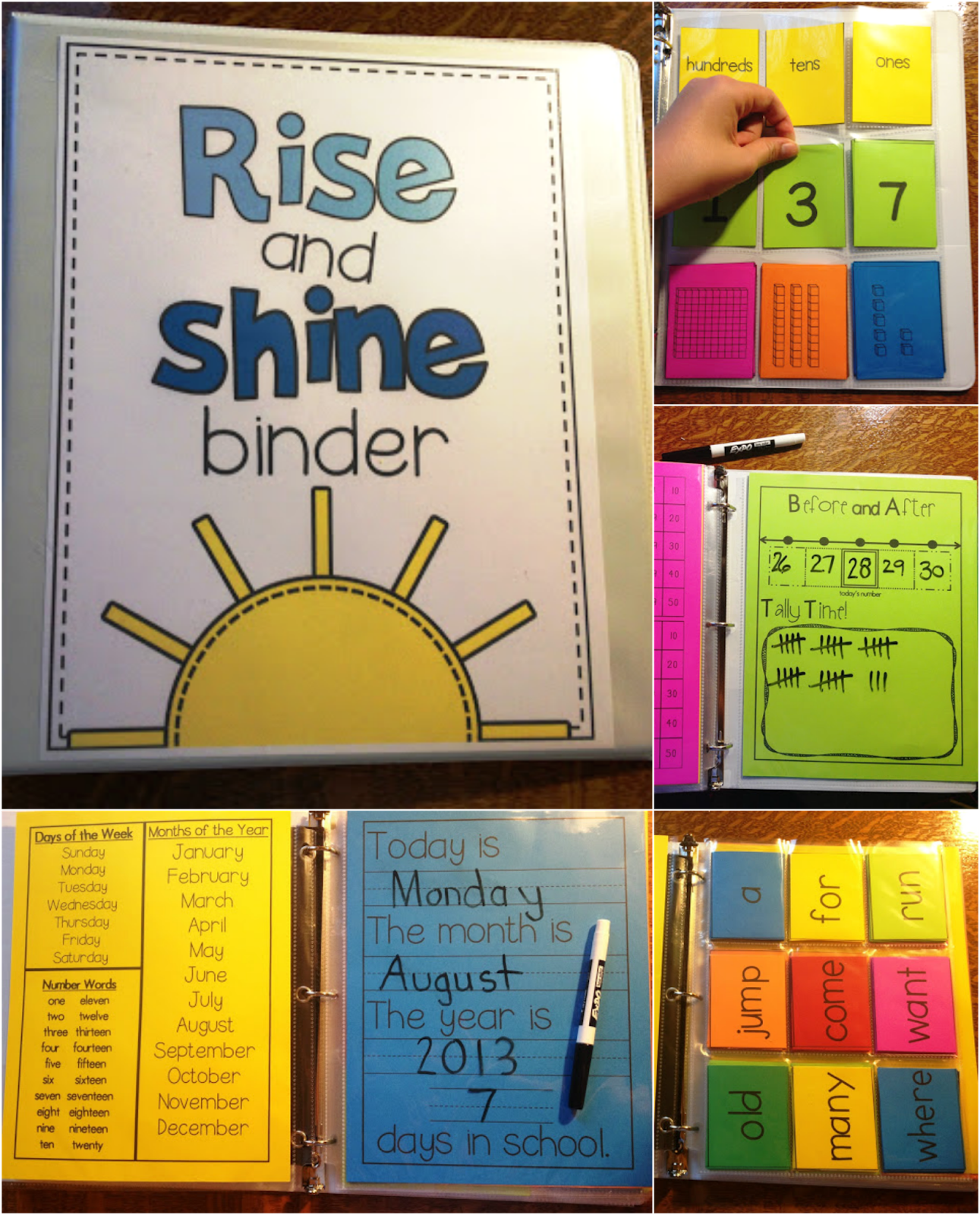 Rise And Shine Binder- Interactive Morning Activities To