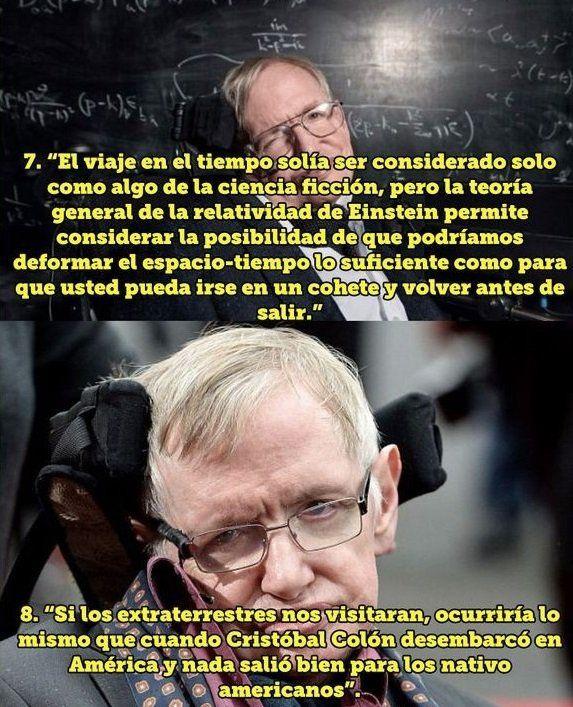 12 Reflexiones De Stephen Hawking Que Te Dejaran Pensando Stephen Hawking Frases De Sabiduria Frases Infieles