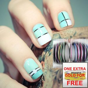 Striping tape line nail art choice image nail art and nail tape line nail art sticker google search nails pinterest 12 color rolls striping tape line nail prinsesfo Gallery