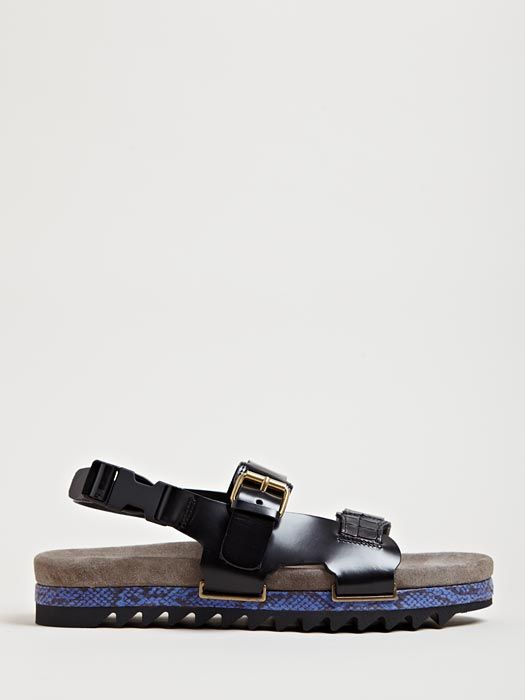 Mens Lanvin Snake Detail SandalsShoes 2019 Fashion In Leather BeWdCorx