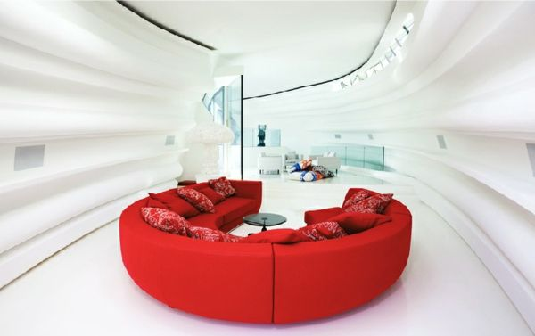 Innendesign weiss rot Sofa Fliegender Holländer Pinterest - wohnzimmer sofa rot