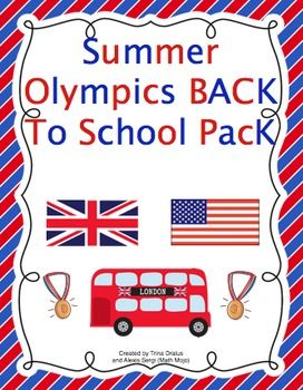 Just in time for the Olympics!  Back-to-School Pack