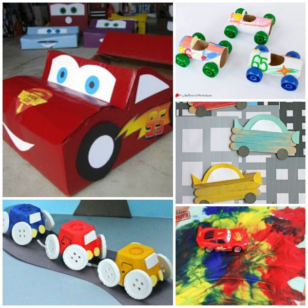 Car Craft For Kids Part - 43: Cars Inspired Crafts For Kids