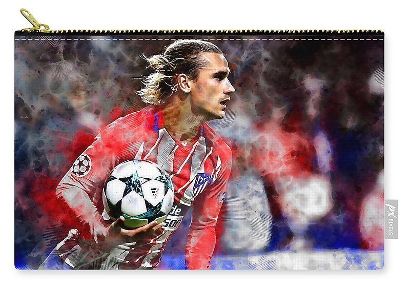 Antoine Griezmann Carry All Pouch For Sale By Marvin Blaine