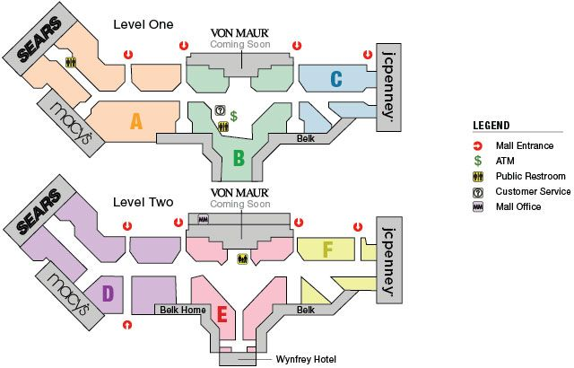 Pin by UAB of Medicine on Shopping | Galleria mall, Shopping ... Galleria Stores Map on