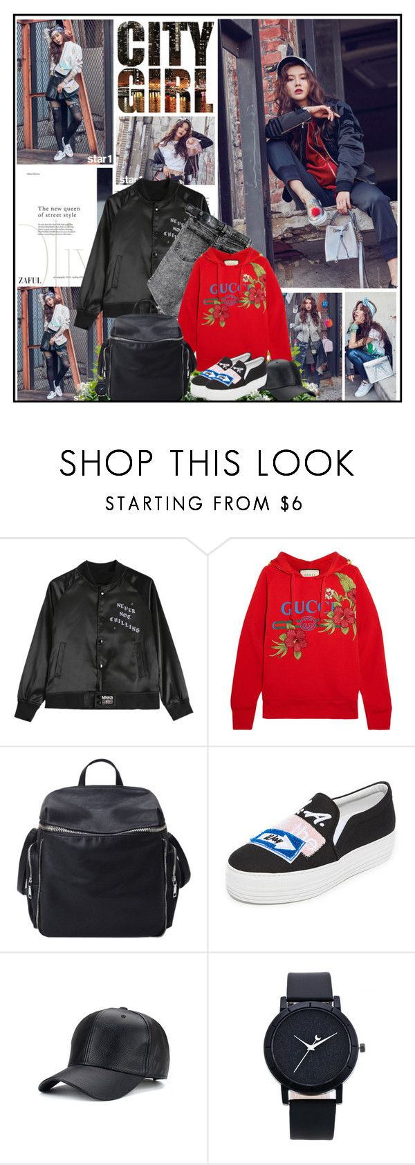 """City Girl"" by katik27 ❤ liked on Polyvore featuring Cheap Monday, Gucci and Joshua's"