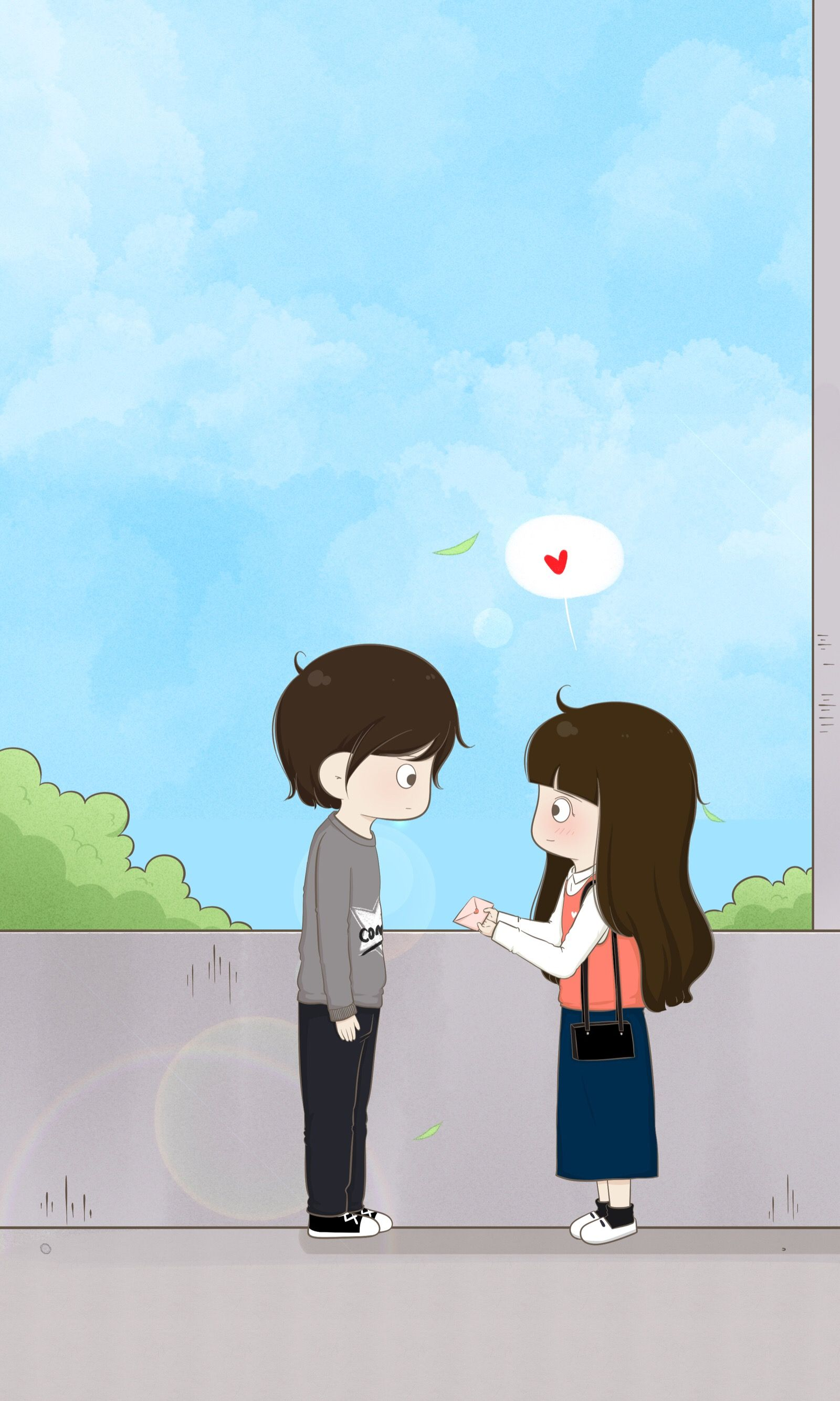 Cute couple cartoon chibi couple anime love couple
