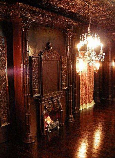 Tudor gothic revival style room box for julie b for Casa revival gotica