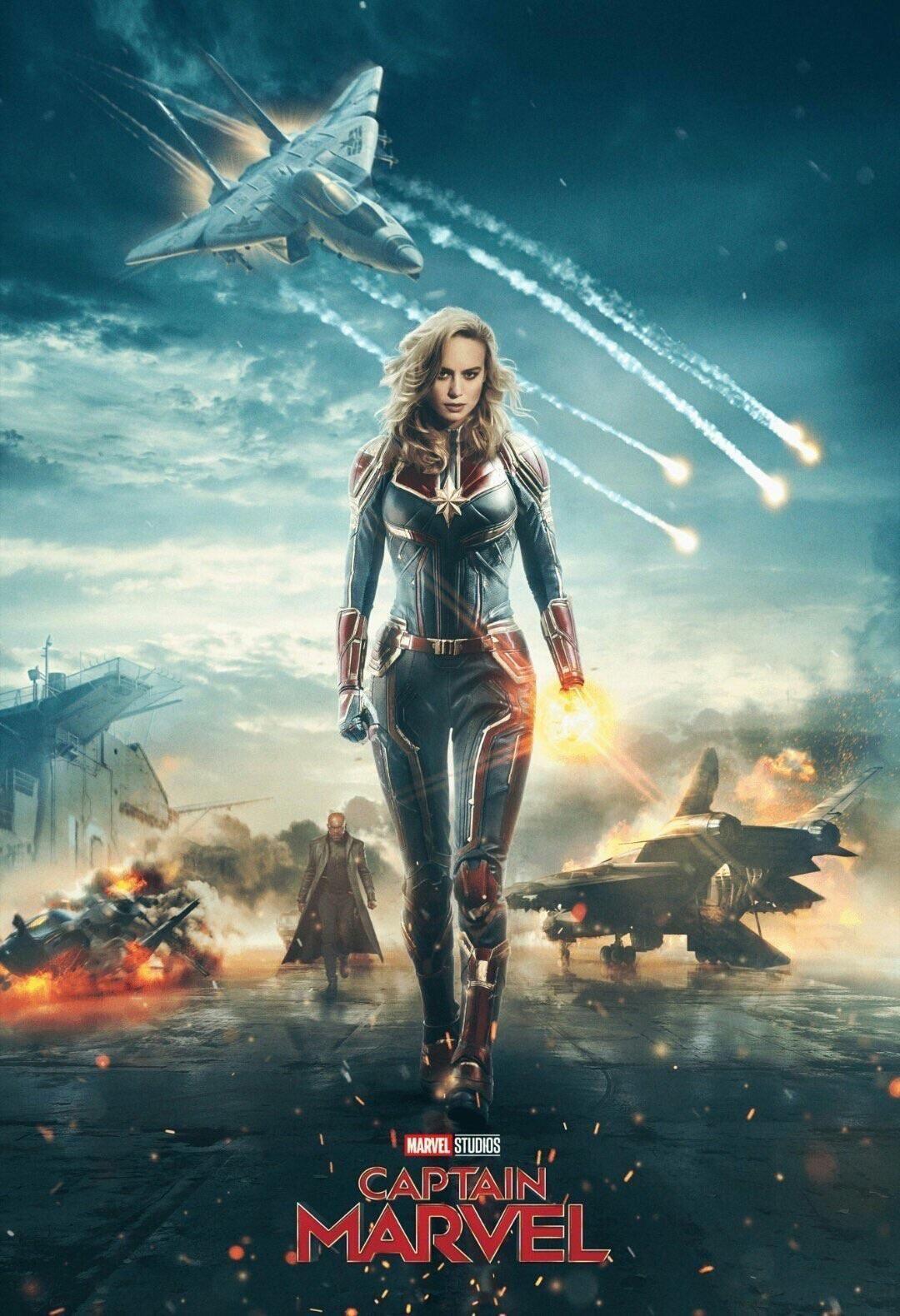 1 captain marvel movie poster 2019 new, avengers print, infinity war