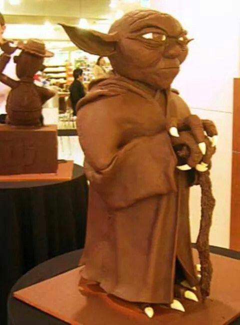 Chocolate art sculpture