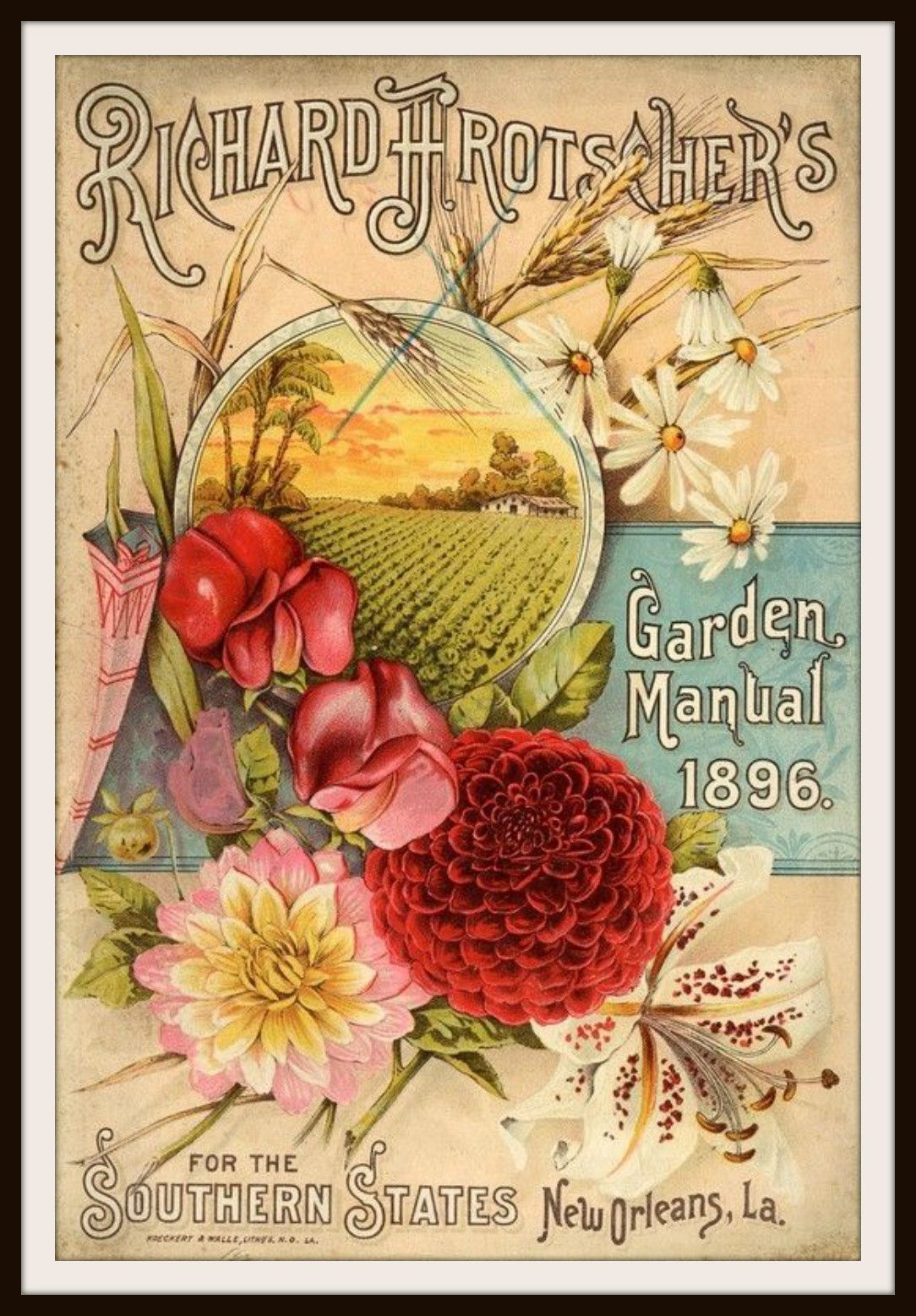 Vintage Reproduction Seed Pack Cover Art Print | Seed packets ...