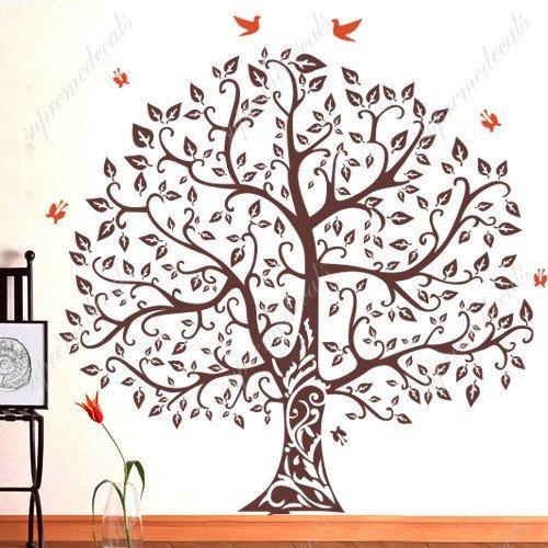 Custom For Sandi Banyan Tree Wall Decals Stickers Removable - Custom removable vinyl wall decals