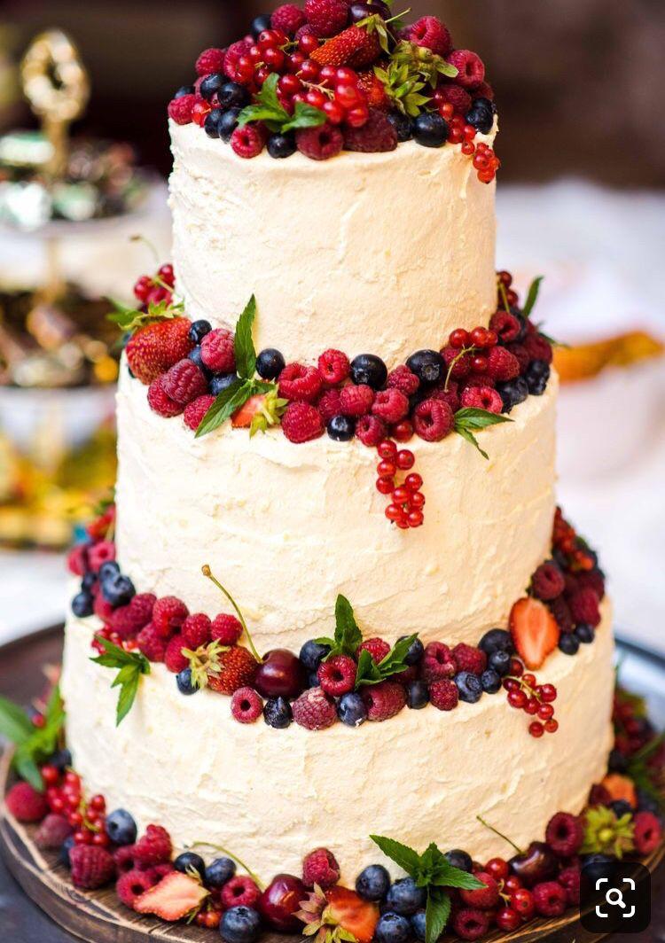 Photo of Summer Berry Wedding Cake