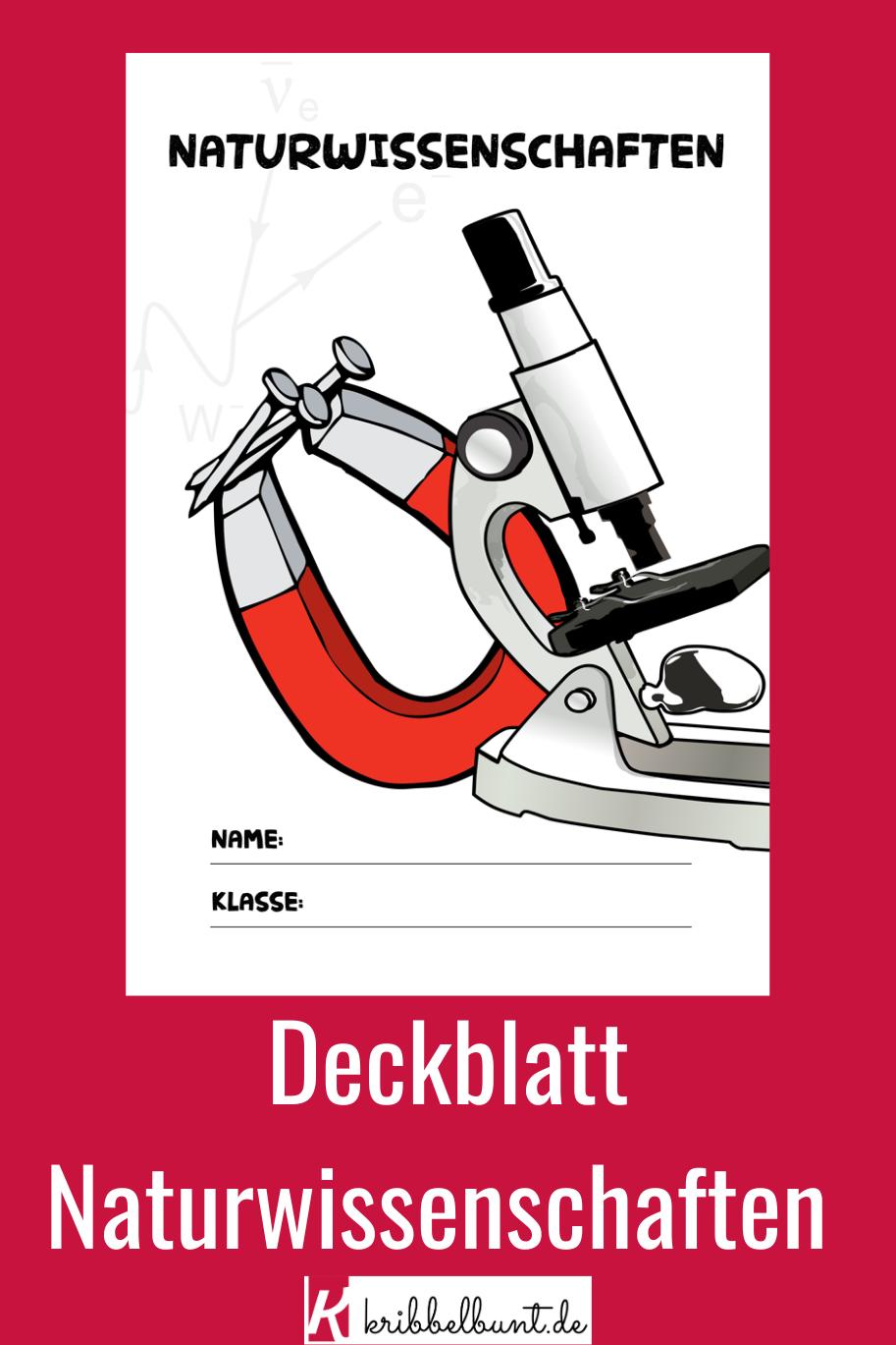 Naturwissenschaften Deckblatt Fur Die Schule Zum Ausdrucken In 2020 Naturwissenschaft Wissenschaft Deckblatt