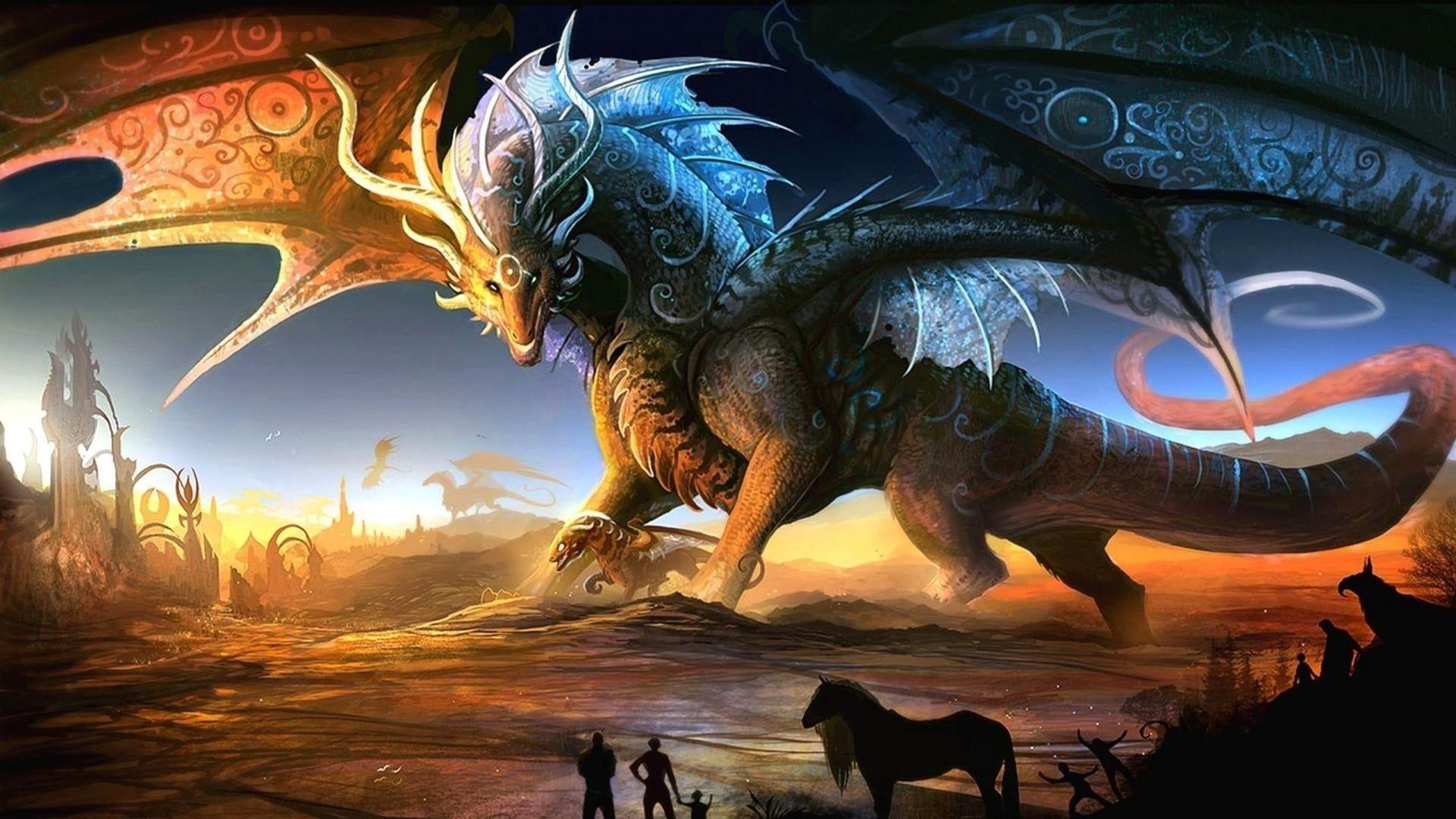 Brown Dragon Wallpaper Dragon Horse Men Fantasy Art Wings Artwork 1080p Wallpaper Hdwallpaper Desktop Fantasy Dragon Fantasy Art Anime Wallpaper
