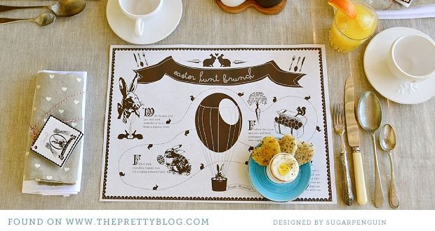 We Welcome Sugarpenguin Diy Easter Diy Easter Placemats Easter Food Crafts