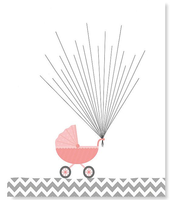 Fingerprint Baby Shower Alternative Guest By Sweetpeanurseryart