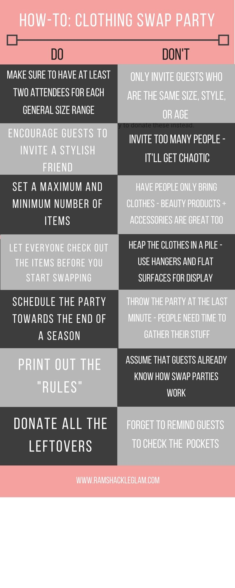 Tips For Hosting A Clothing Swap Party   Ramshackle Glam